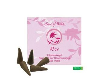 Rose Räucherkegel Fair Trade
