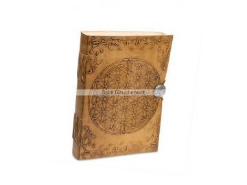 Buch der Schatten - Blume des Lebens   Notizbuch mit Ledereinband