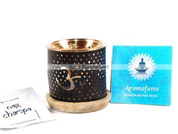 Aromafume Diffuser Ohm - 3 teiliges Stövchen mit Kupferteller