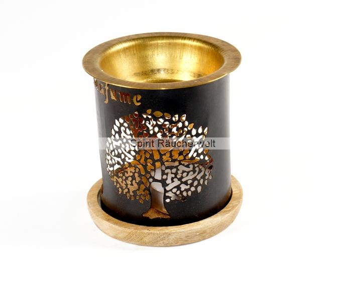 Duftlampe/ Windlicht Baum des Lebens aus Metall