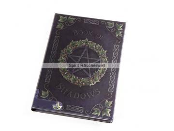Buch der Schatten - mit Pentagramm   Notizbuch - Schattenbuch selber machen