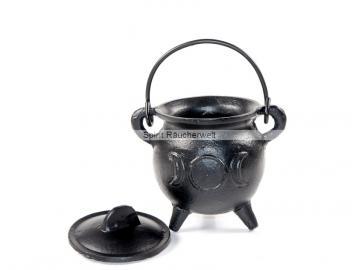 Räucherkessel - Hexenkessel - Caldron -  Triple Moon | Räuchergefäß - Ritualbedarf