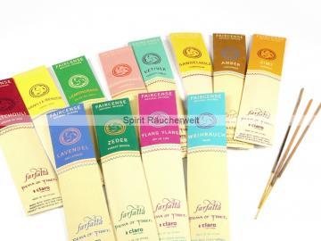 Farfalla Räucherstäbchen -12er-Set - Natural Faircense - naturrein und nachhaltig