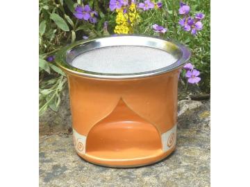Räucherstövchen Spirale-orange 12cm
