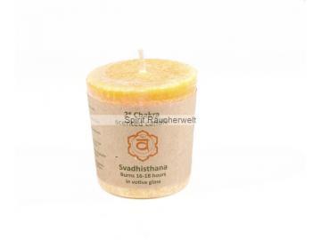 2. Chakra - Votivkerze   Duftkerze mit naturreinen ätherischen Ölen