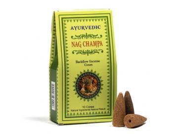 Ayurvedic Nag Champa Rückfluss - Backflow Räucherkegel