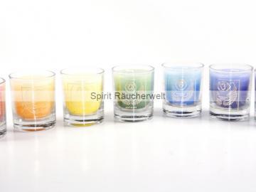7er-Set Erzengel Kerzen - Votiv Kerze - Duftkerze  im Glas