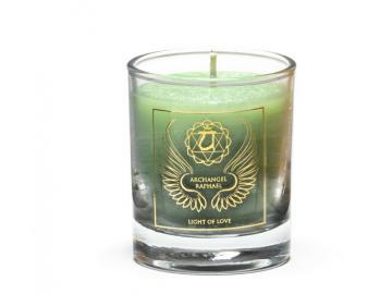 Erzengel Raphael - Engelkerze  Votiv Kerze - Duftkerze  im Glas