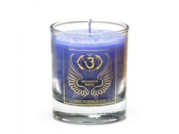 Erzengel Raziel - Engelkerze  Votiv Kerze - Duftkerze  im Glas