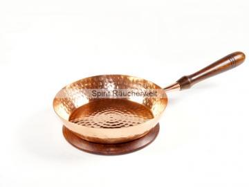 Räucherpfanne Aleene aus Kupfer - mit Holzgriff - ohne Deckel
