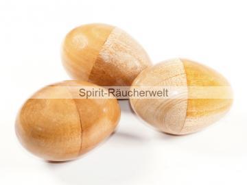 Rassel Ei / Ei Shaker- Schamanen Rassel   Holz natur