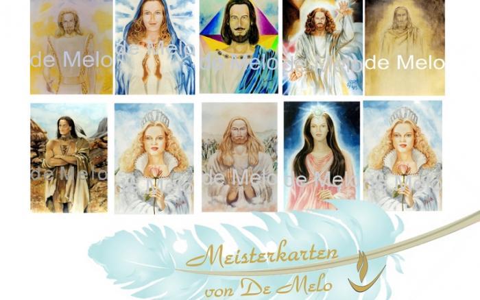 aufgestiegene Meister und Engelkarten von de Melo