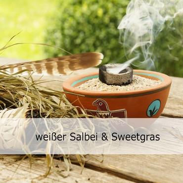 weißer Salbei  Räucherbündel & Sweetgras Räucherwerk