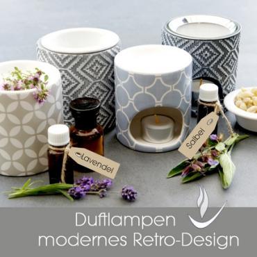 Duftlampen für Aromatherapie - Keramik Holz Metall Ton