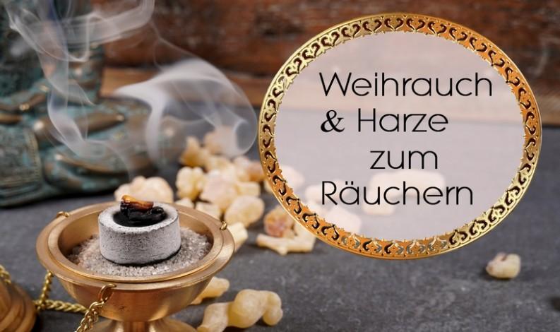 Räucherwerk Weihrauch & Harze räuchern
